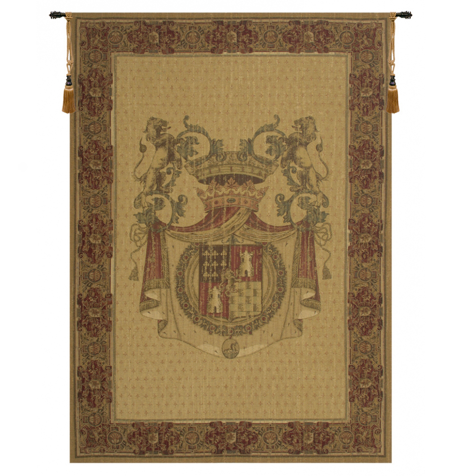 Best And Newest Grandes Armoiries I European Tapestries Inside Blason Tours Belgian Wall Tapestry (View 11 of 20)