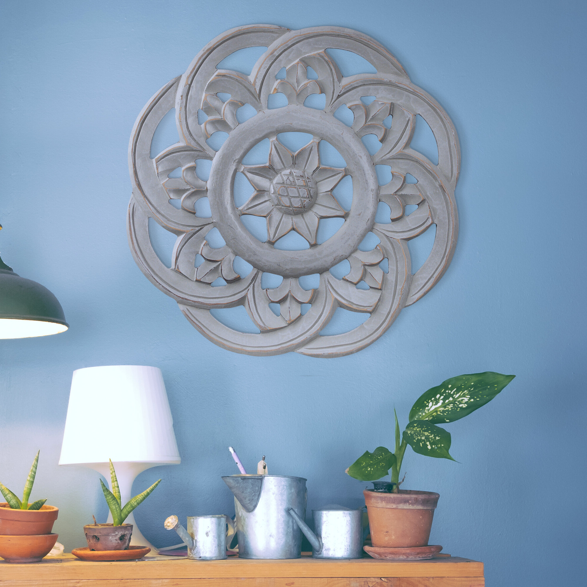 Best And Newest Hand Carved Arabesque Floral Medallion Wall Décor Throughout European Medallion Wall Décor (View 16 of 20)