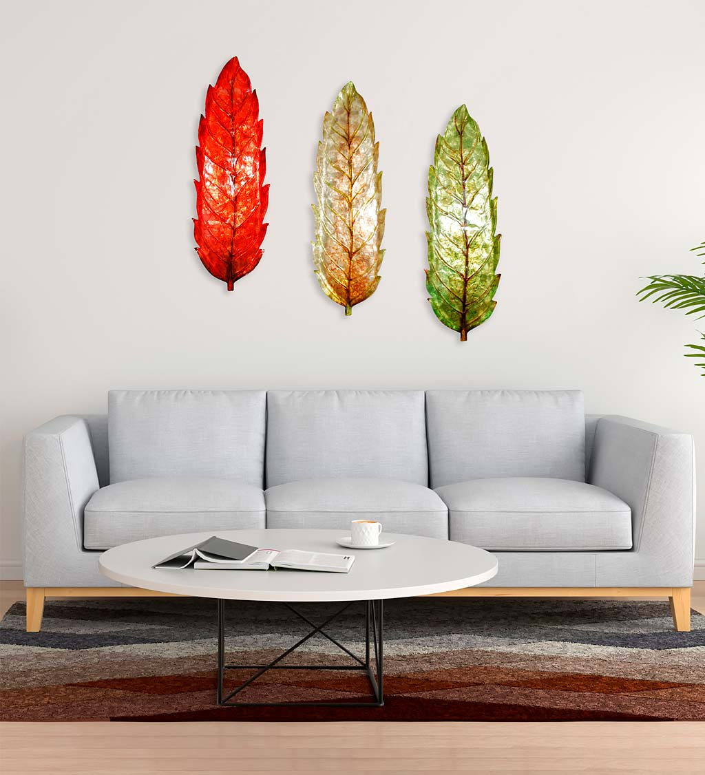 Best And Newest Metal Capiz Wall Decor By Wrought Studio With Regard To Handcrafted Metal And Capiz Large Leaf Wall Art (View 16 of 20)