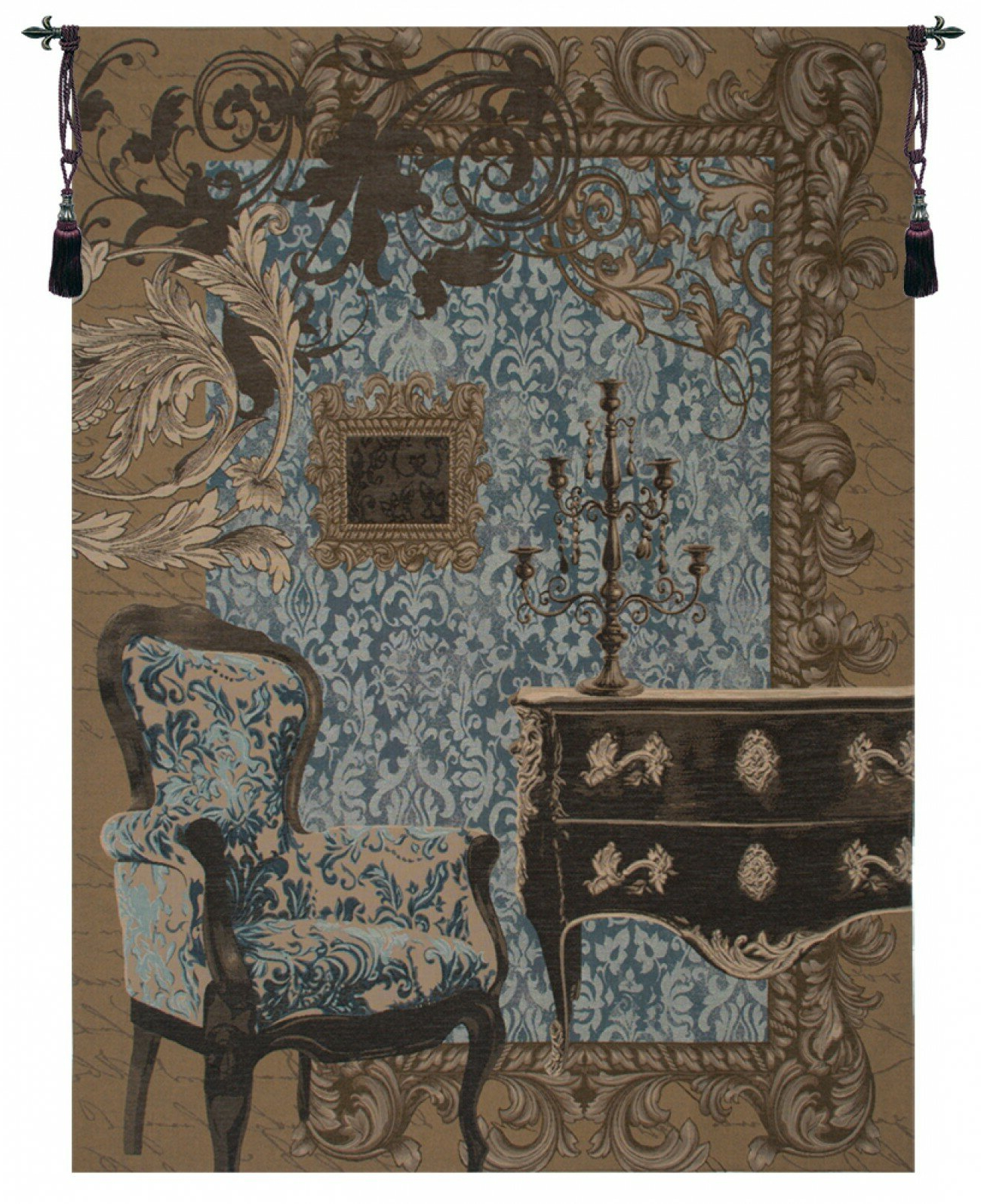 Best And Newest Mobilier Louis Xvi European Tapestry Inside Blended Fabric Gallanteries European Wall Hangings (View 2 of 20)