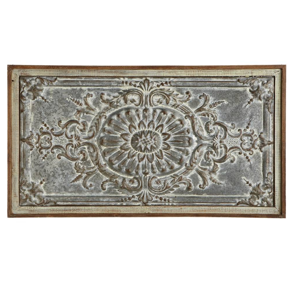 Best And Newest Rectangular Metal Wall Décor In Rectangle Distressed Metal & Wood Wall Art (View 5 of 20)
