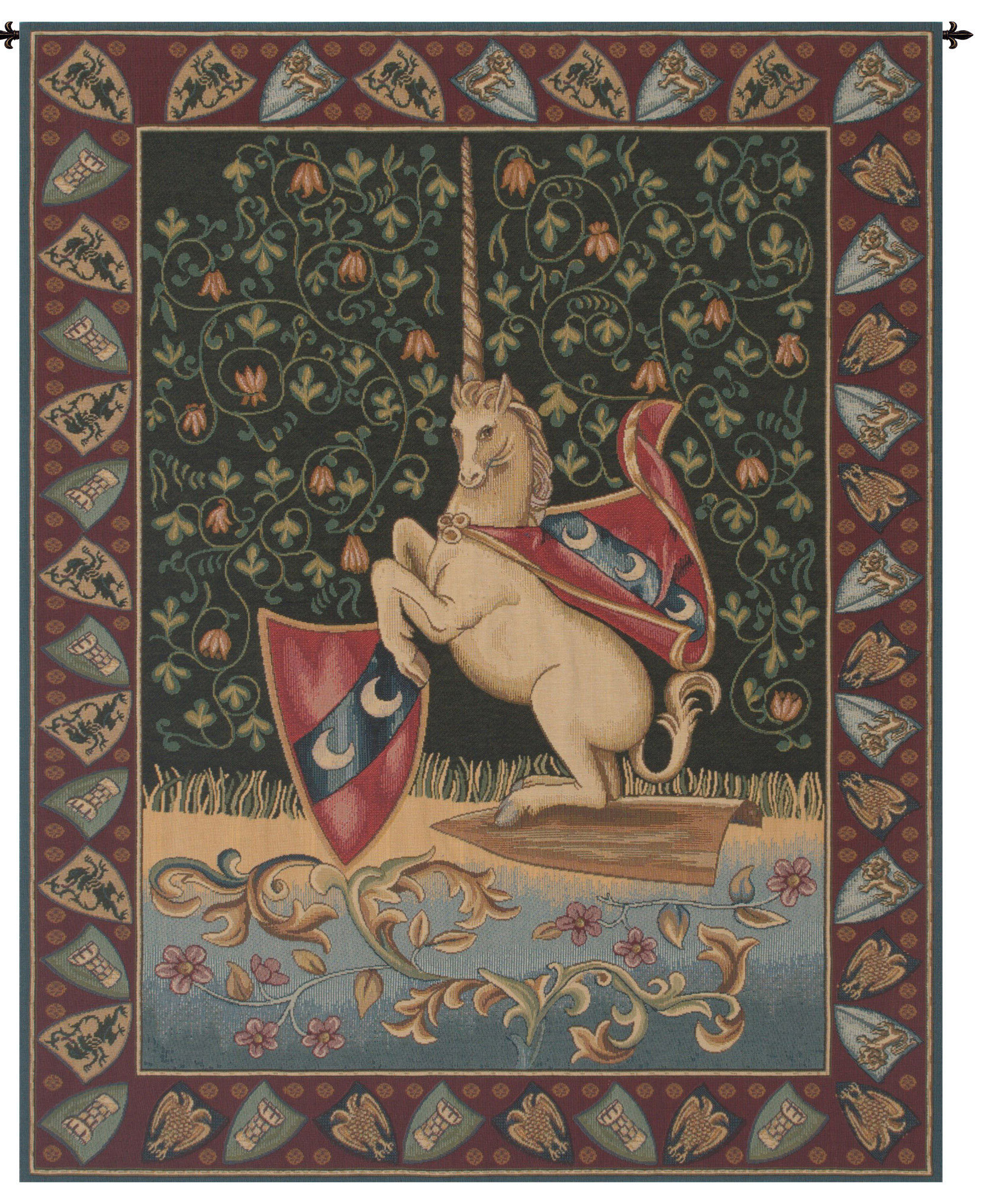 Best And Newest Unicorn Medieval Wall Hanging Pertaining To Blended Fabric Bellagio Scalinata Wall Hangings (View 20 of 20)