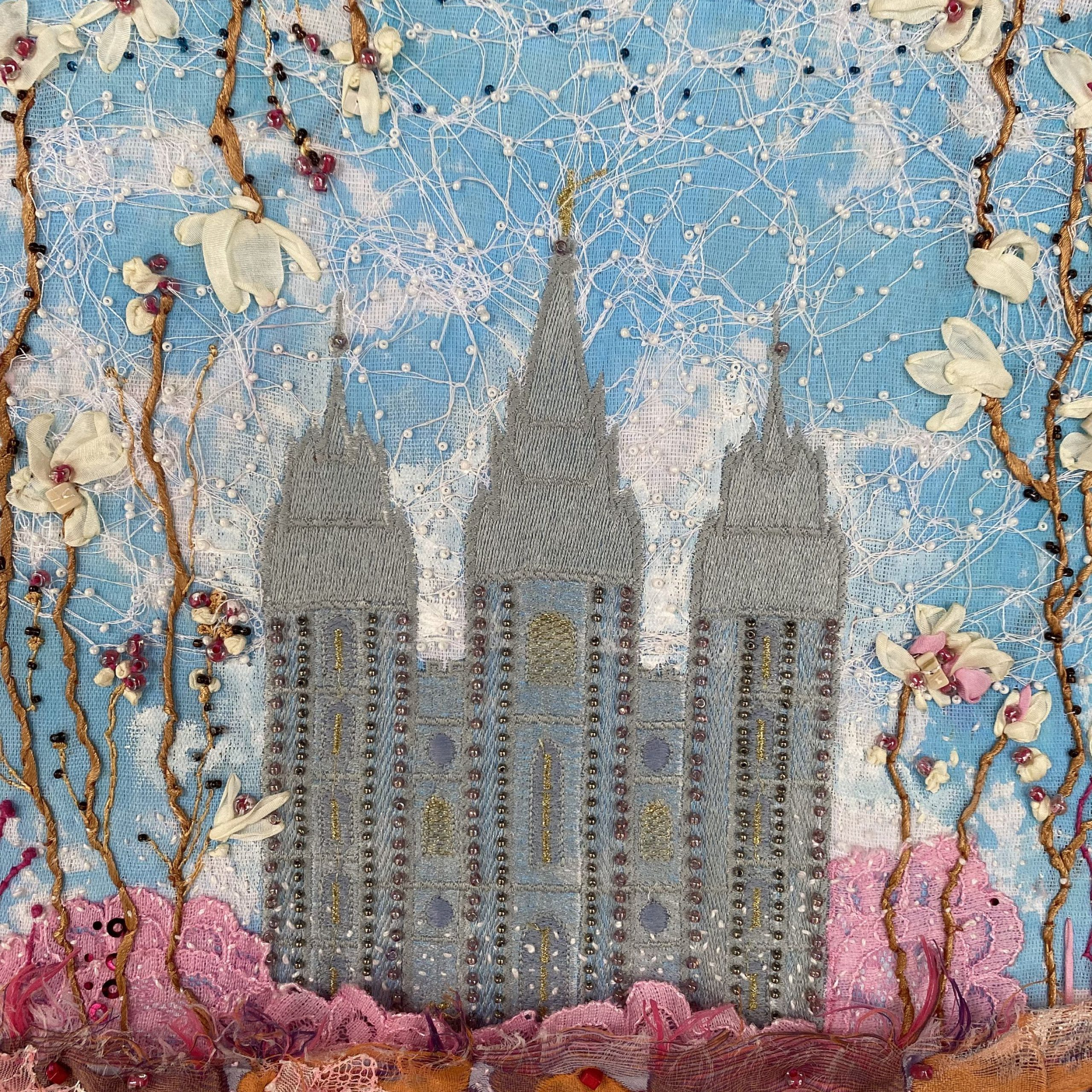 Best And Newest Wall Decor. Textile Art. Fiber Arts. Mormon Temple (View 8 of 20)