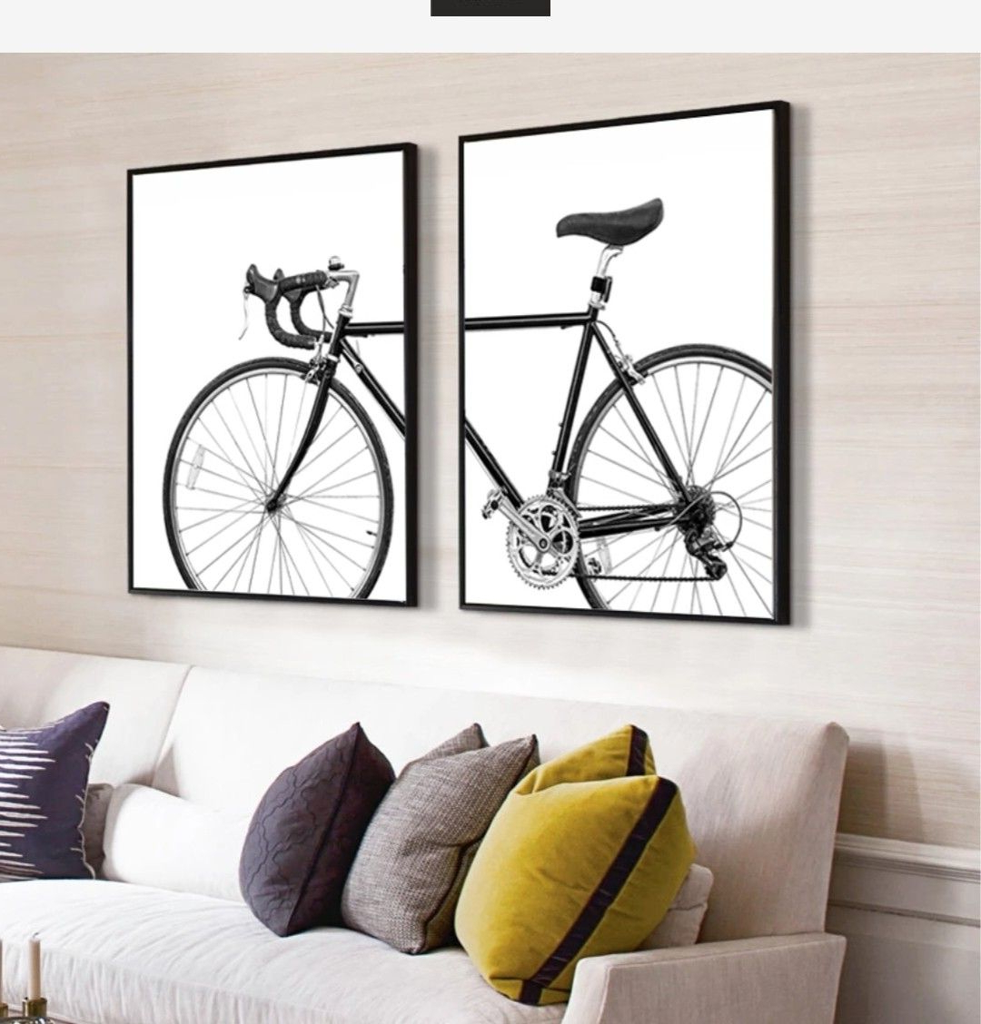 Bicycle Wall Art Canvas Paintings (View 14 of 20)