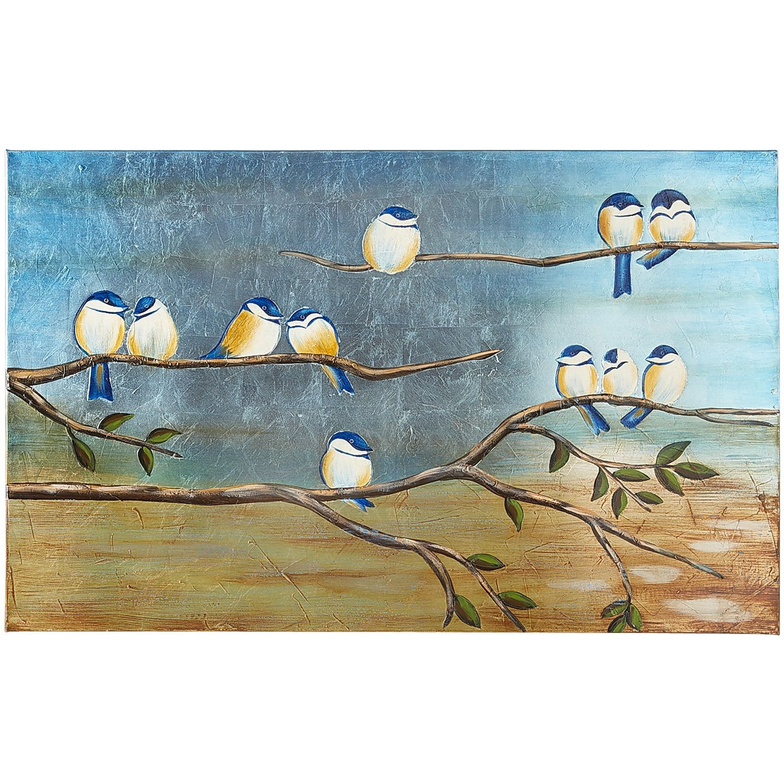 Bird Art, Nature Canvas Painting Intended For Fashionable Birds On A Wire Wall Décor By Winston Porter (View 9 of 20)