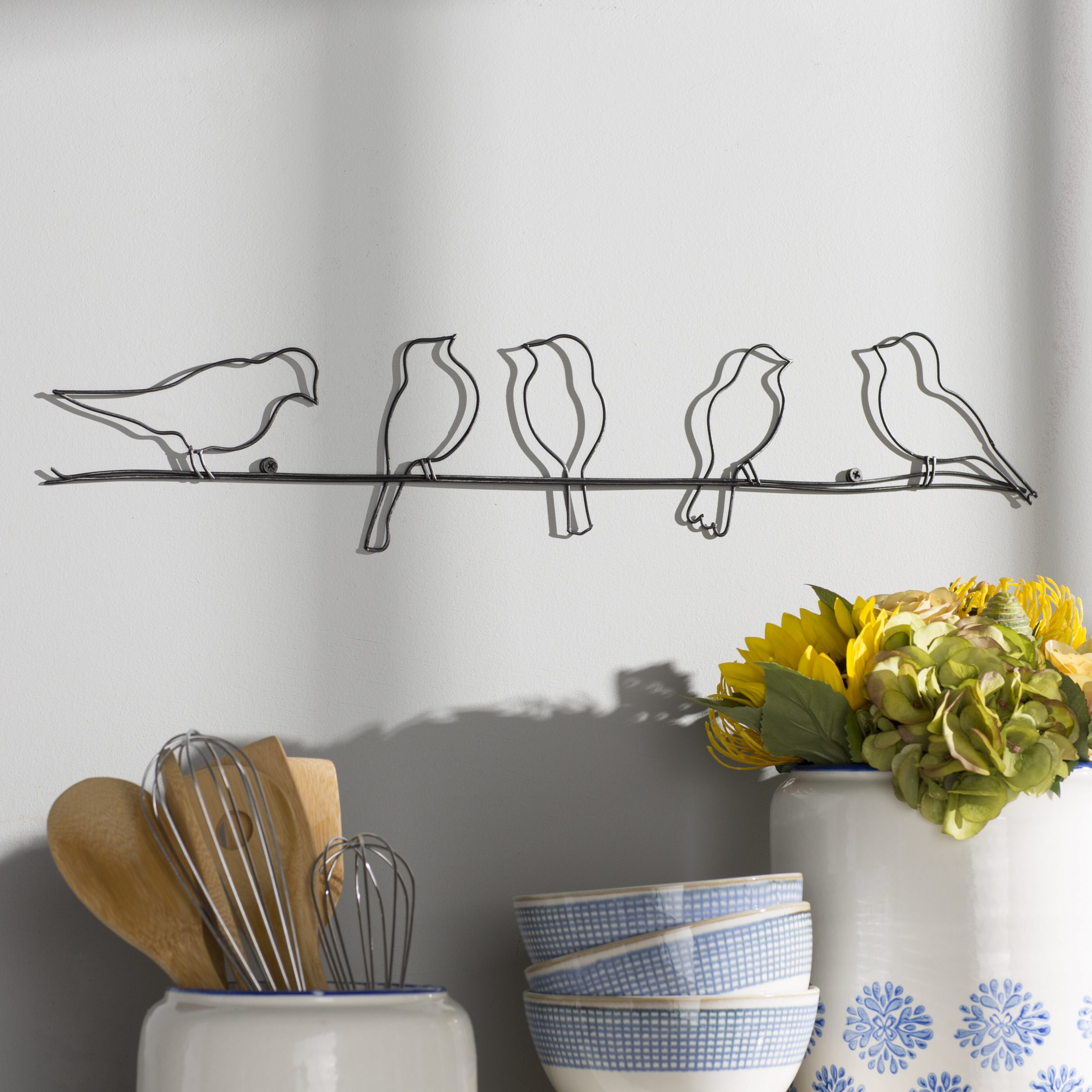 Birds On A Wire Wall Décor By Winston Porter Intended For Well Known Birds On A Wire Wall Decor (View 2 of 20)