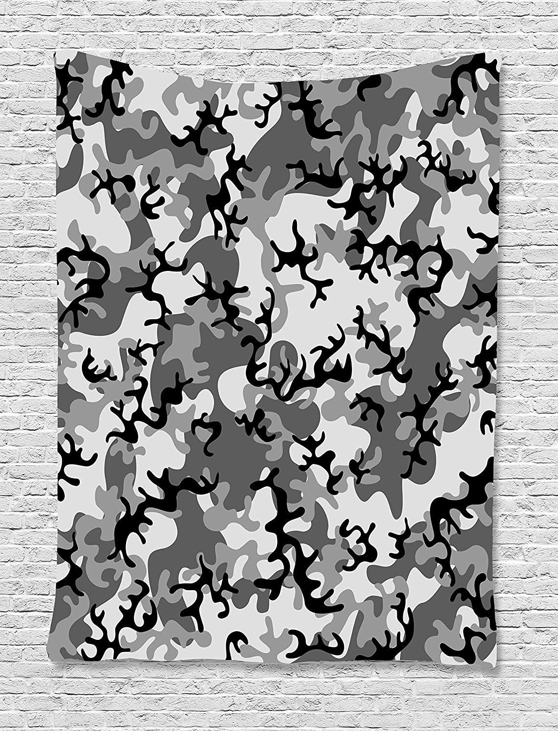 Blended Fabric Artifice Ii Wall Hangings Throughout Fashionable Ajnxcid Camo Tapestry, Battledress Concept Concealment (View 4 of 20)