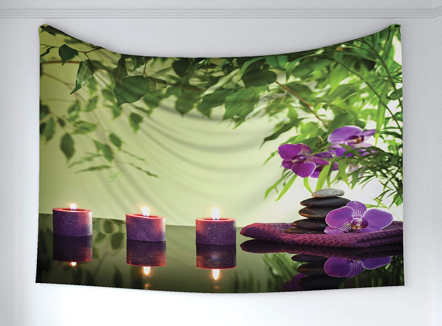 Blended Fabric Autumn Tranquility Verse Wall Hangings For Famous Amazon: Ambesonne Spa Tapestry, Stones Aromatic Candles (View 15 of 20)