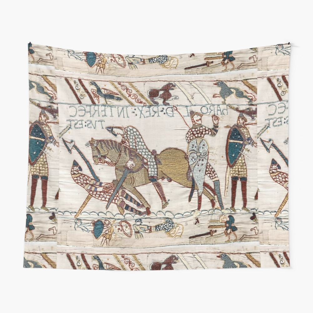 Blended Fabric Bayeux William Troops Wall Hangings Inside Popular Bayeux Tapestry. King Harold Is Killed (View 8 of 20)