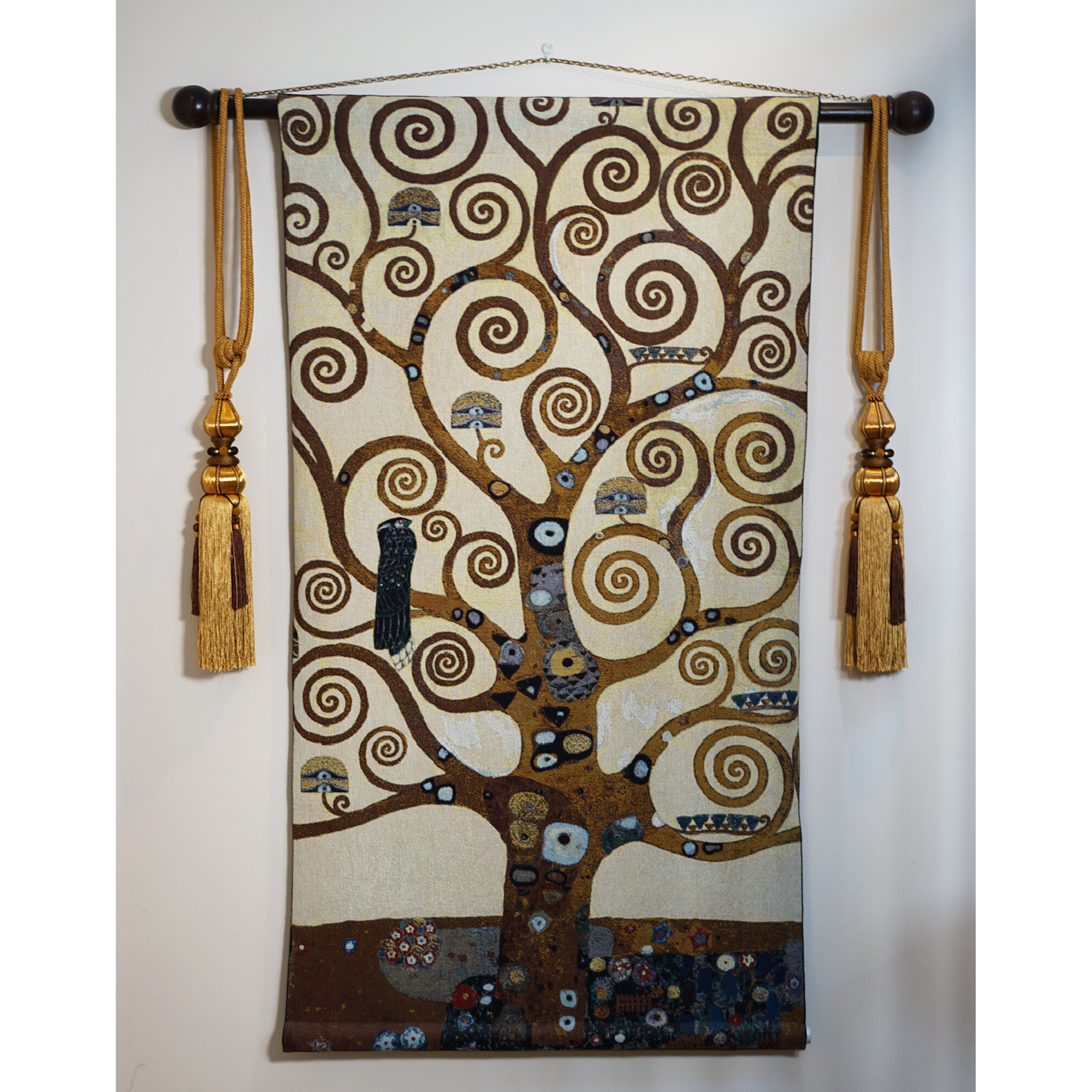 Blended Fabric Bellagio Scalinata Wall Hangings Inside Most Up To Date Cotton Klimt Tree Of Life Wall Hanging (View 15 of 20)