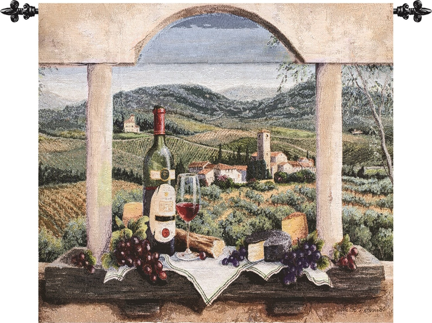 Blended Fabric Bellagio Scalinata Wall Hangings Within Most Current Vin De Provence Tapestry (View 16 of 20)