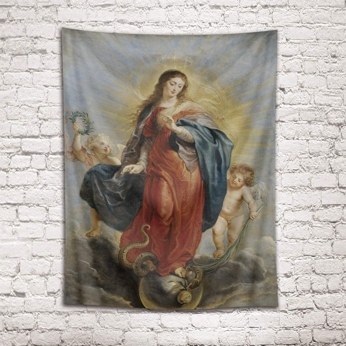 Blended Fabric Blessings Of Christmas Tapestries Regarding Famous Hvest Christian Tapestry Holy Virgin Mary And – Amazon (View 2 of 20)