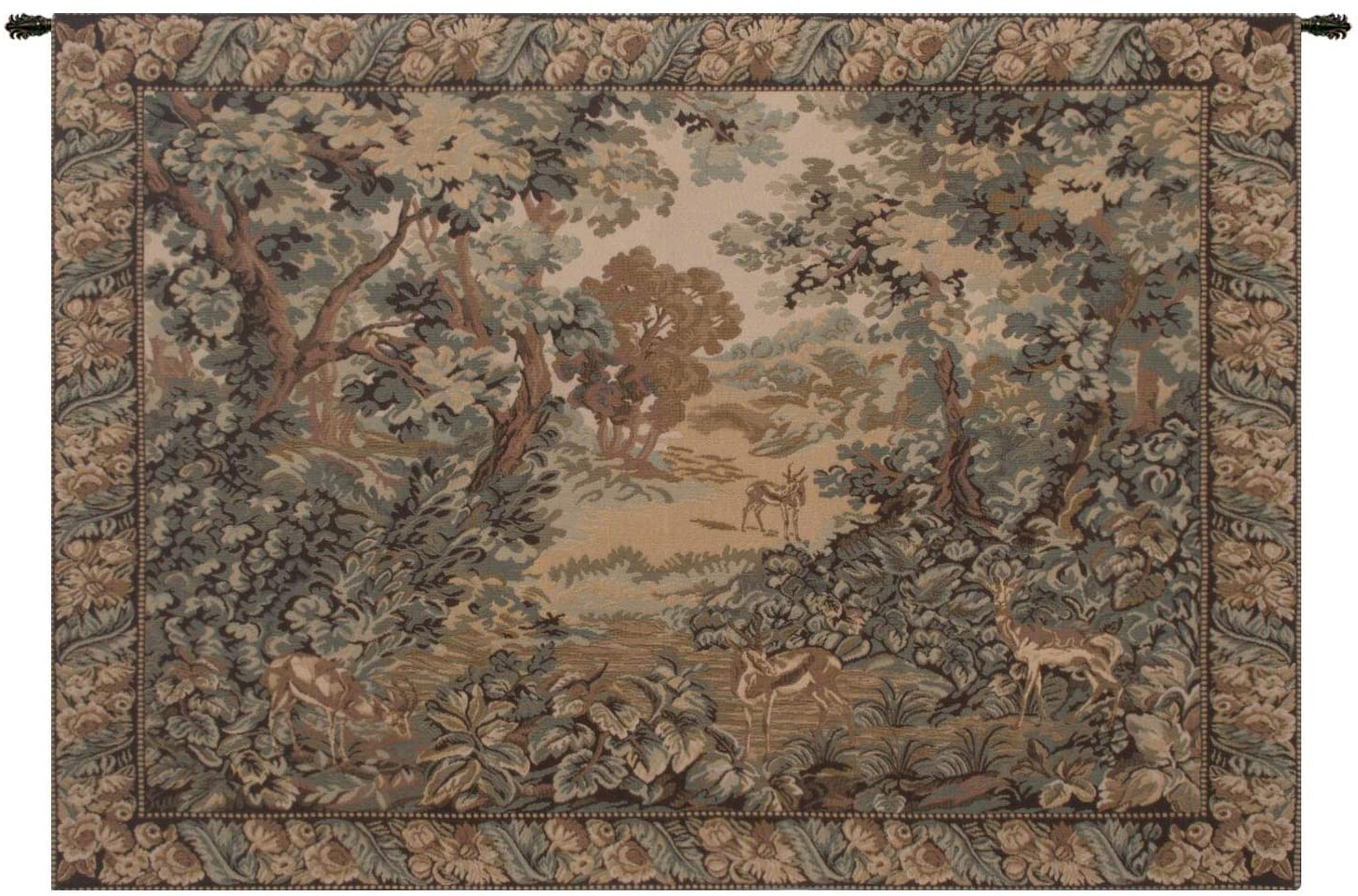 Blended Fabric Classic French Rococo Woven Tapestries For Most Up To Date Amazon: Verdure And Reindeer European Wall Tapestry (View 20 of 20)