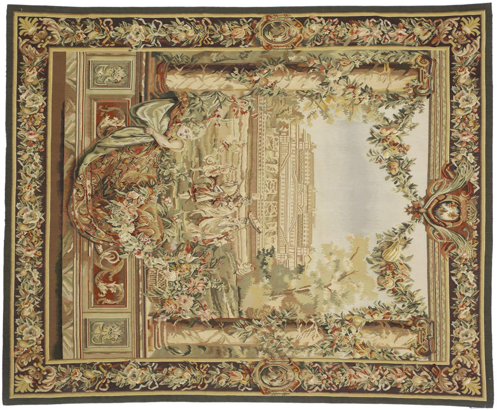 Blended Fabric Classic French Rococo Woven Tapestries Pertaining To Fashionable New Gobelins Inspired Tapestry 6 X 7 In (View 8 of 20)