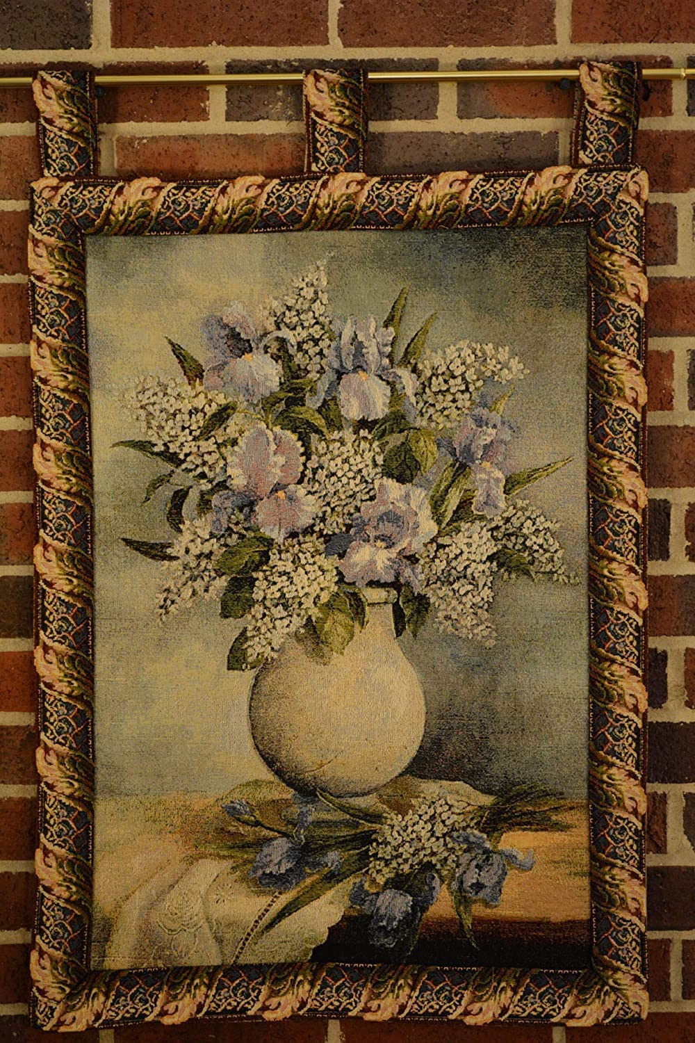 Blended Fabric Faraway Longing Wall Hangings Intended For Most Up To Date Tache 27 X 20 Inch Traditional Styled Country Rustic Floral Captured Wildflowers Tapestry Wall Hanging Art Home Decor Decoration With/hanging Loops (View 9 of 20)