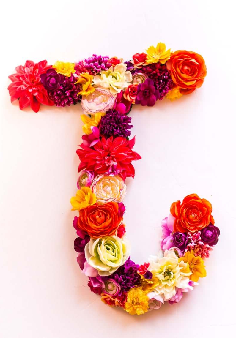 Blended Fabric Fruity Bouquets Wall Hangings Throughout Most Recently Released 32 Best Flower Letters That Will Put Your Signature On Your (View 11 of 20)
