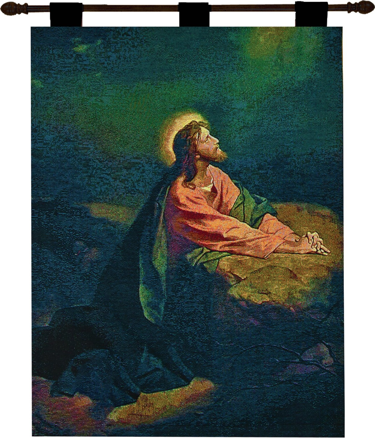 Featured Photo of Blended Fabric Garden Of Gethsemane Tapestries And Wall Hangings