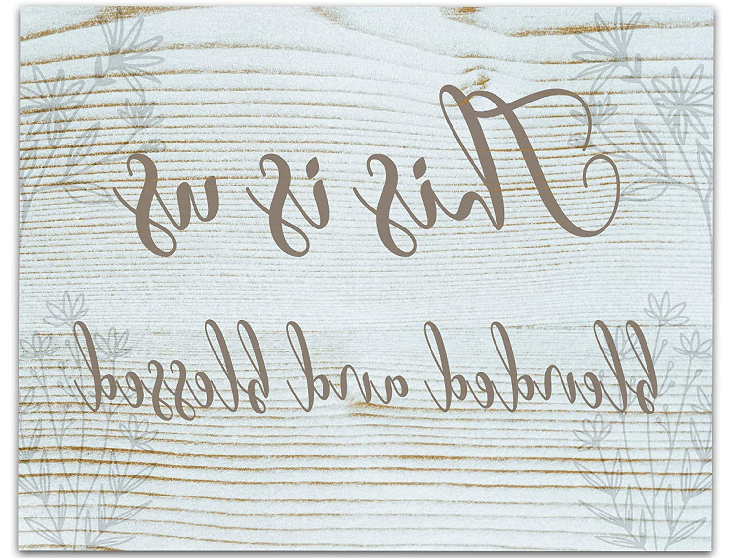 """Blended Fabric Hello Beauty Full Wall Hangings Throughout Current This Is Us Blended And Blessed Wall Art 14""""x11"""", Unframed Wood Effect Blended Family Quote Poster. Wall Hanging Gift Idea For New Families (View 2 of 20)"""
