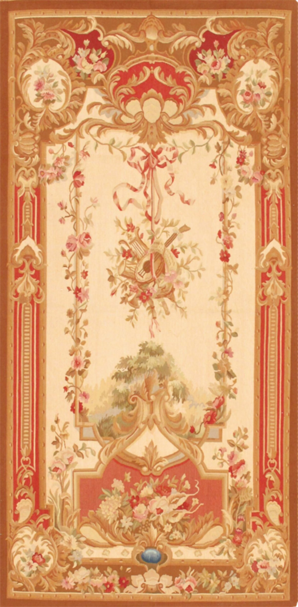 Blended Fabric Hidden Garden Chinoiserie Wall Hangings With Rod In Famous Tapestry (View 4 of 20)