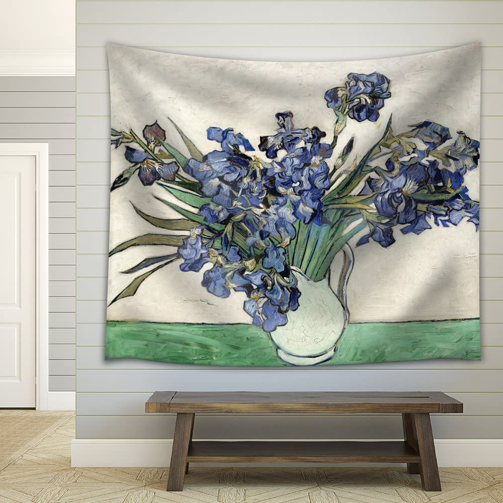"""Blended Fabric Irises Tapestries For Most Up To Date Wall26 – """"vase Of Irisesvincent Van Gogh – Fabric Tapestry, Home Decor – 51x60 Inches (View 3 of 20)"""
