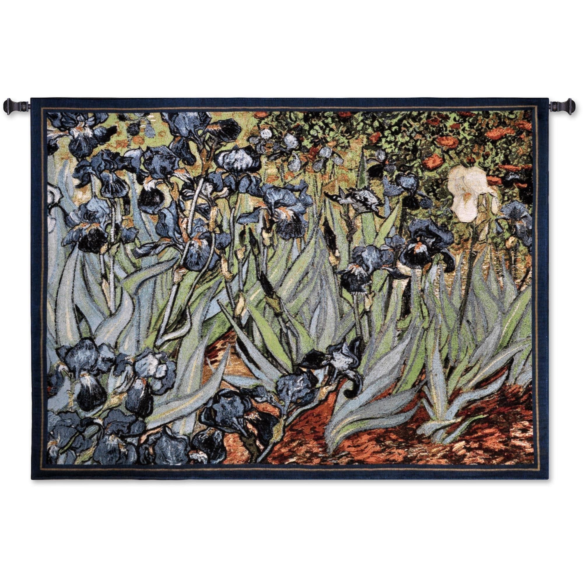 Blended Fabric Irises Tapestries Throughout Preferred Finearttapestries 1344 Wh Irises Van Gogh Wall Tapestry – Walmart (View 11 of 20)