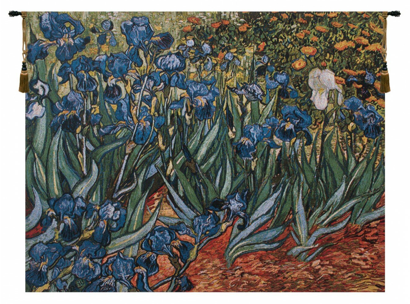 Blended Fabric Irises Tapestries With Famous Irises In Gardenvan Gogh Tapestry (View 10 of 20)