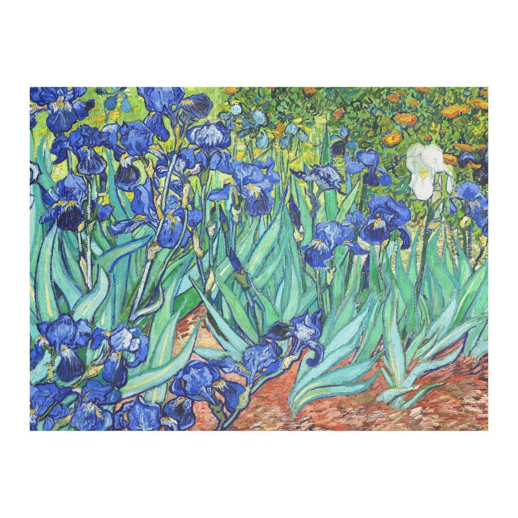 Blended Fabric Irises Tapestries With Regard To Current Irisesvincent Van Gogh Fleece Blanket (View 8 of 20)