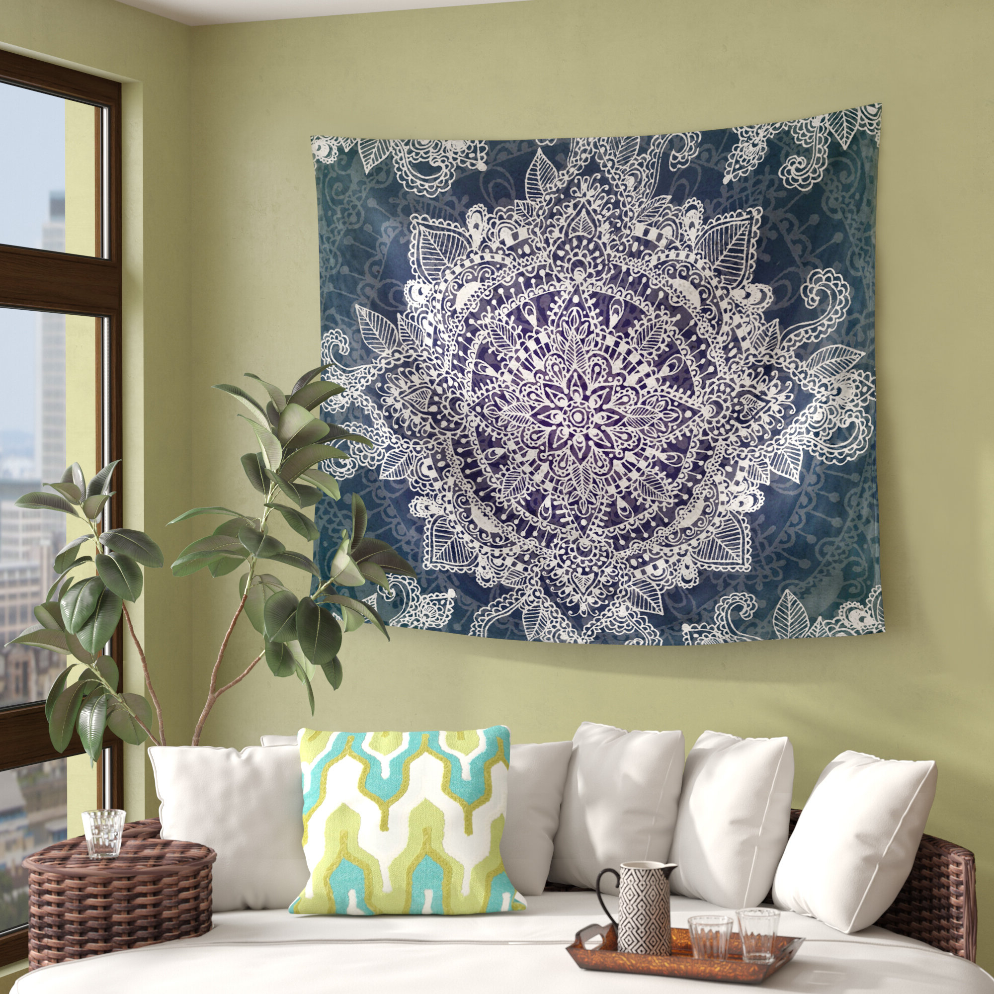 Blended Fabric Lago Di Como Ii Wall Hangings With Fashionable Tapestries You'll Love In 2021 » Wayfair (View 20 of 20)