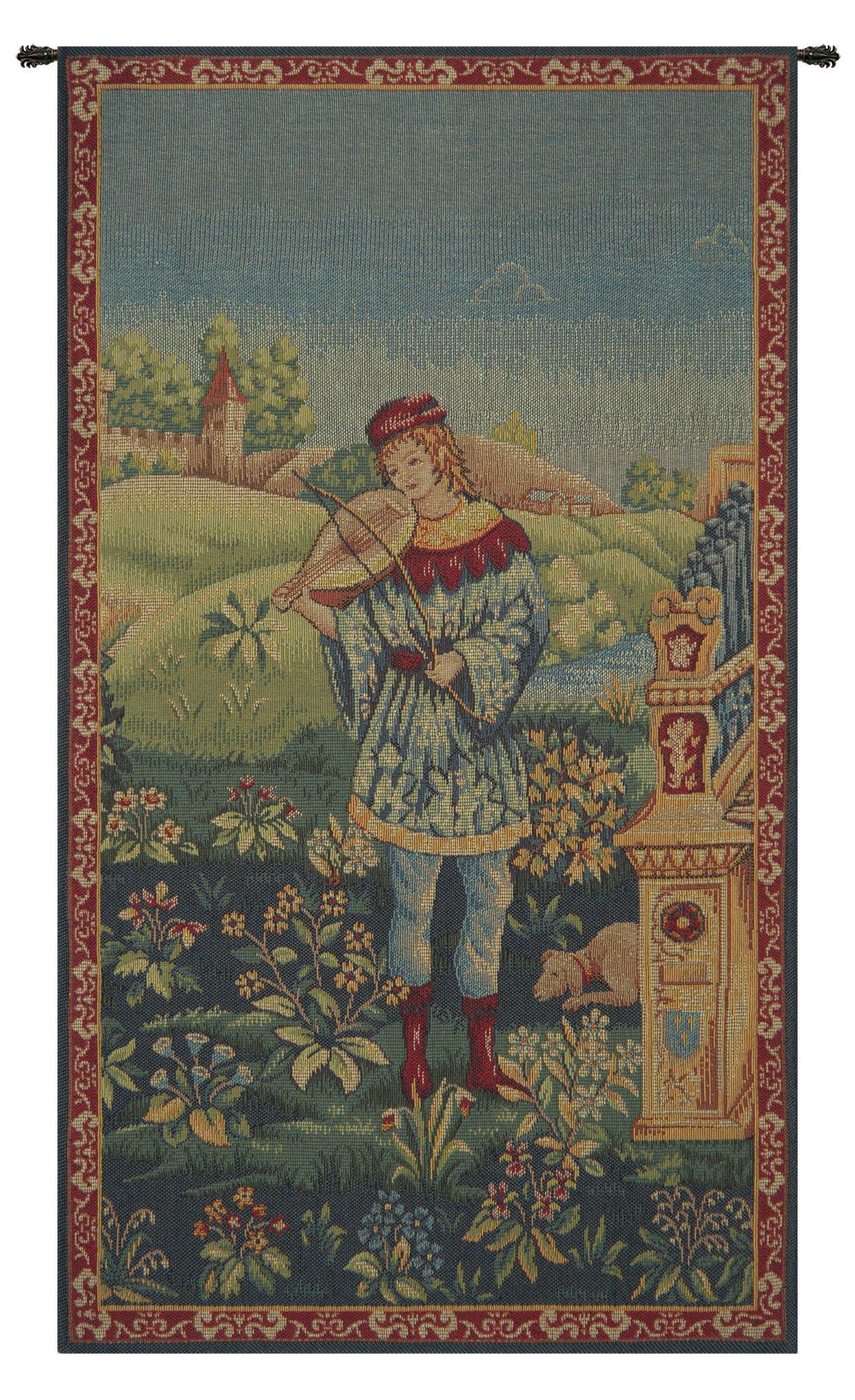 Blended Fabric Le Troubadour Tapestry Intended For Well Known Blended Fabric Irises Tapestries (View 5 of 20)