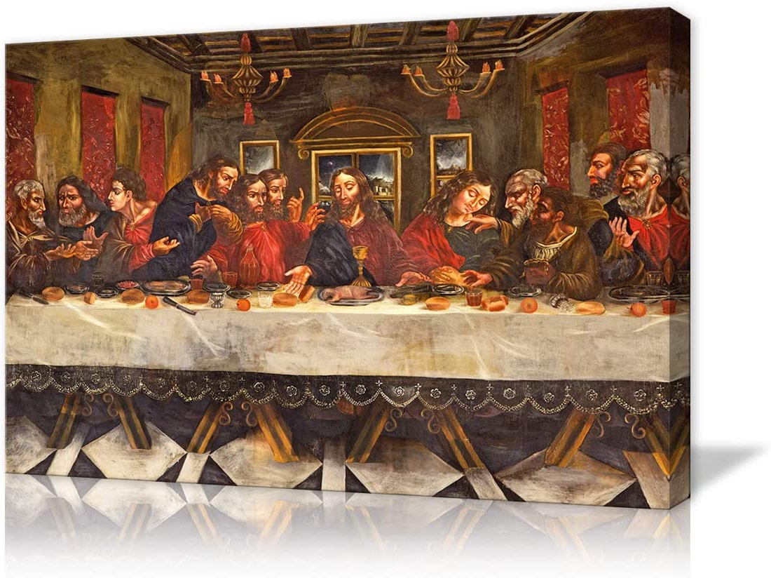 Featured Photo of Blended Fabric Leonardo Davinci The Last Supper Wall Hangings
