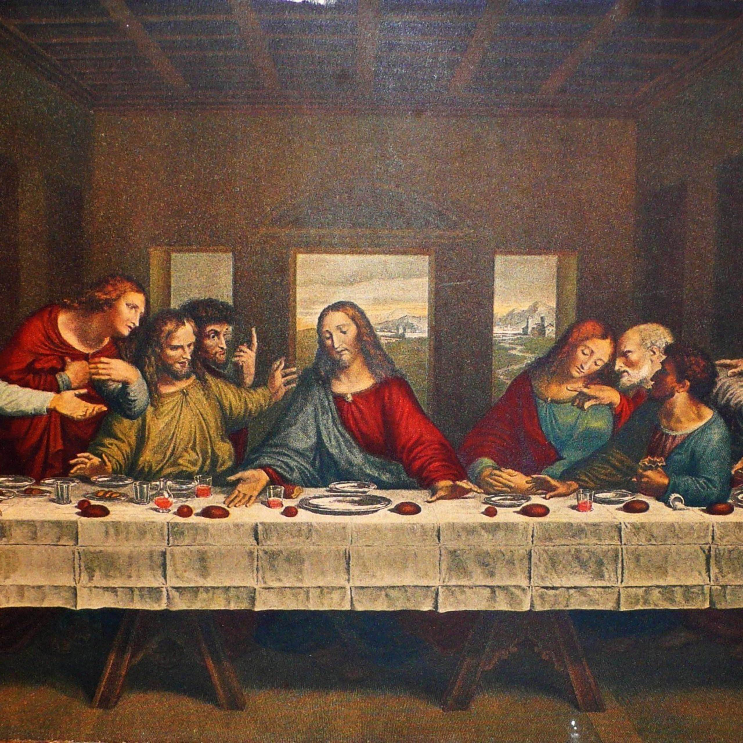 Blended Fabric Leonardo Davinci The Last Supper Wall Hangings Throughout Trendy The Last Supper Leonardo Da Vinci (View 7 of 20)