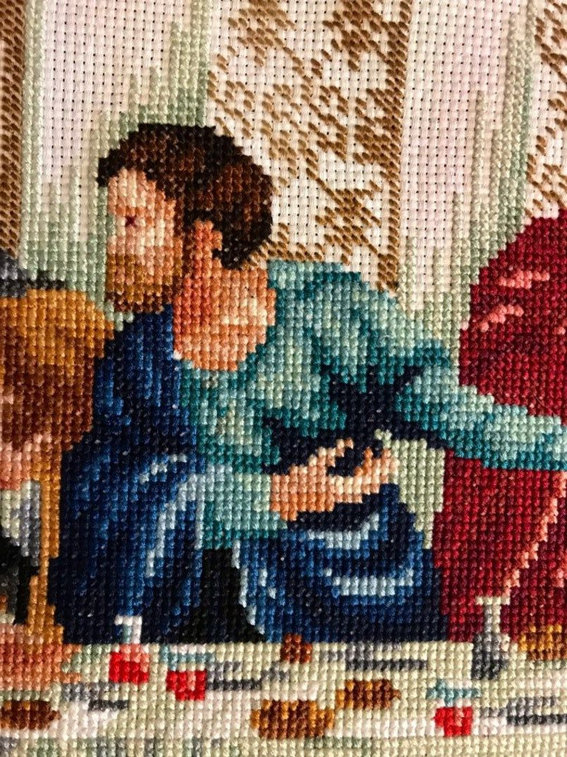 Blended Fabric Leonardo Davinci The Last Supper Wall Hangings With 2020 The Last Supper/ Finished Cross Stitch/jesus Christ / Wall (View 19 of 20)