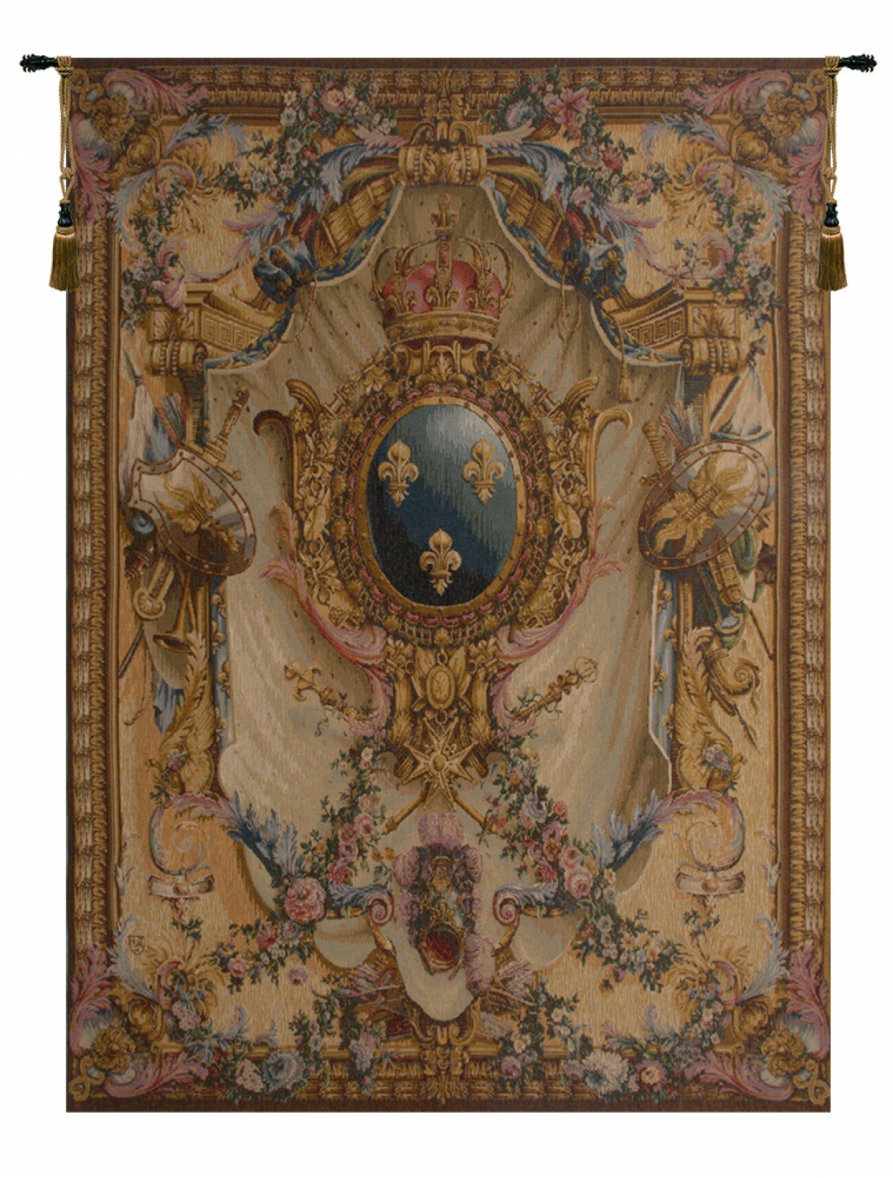 Blended Fabric Living Life Tapestries With Regard To Well Liked Grandes Armoiries I European Tapestry (View 19 of 20)