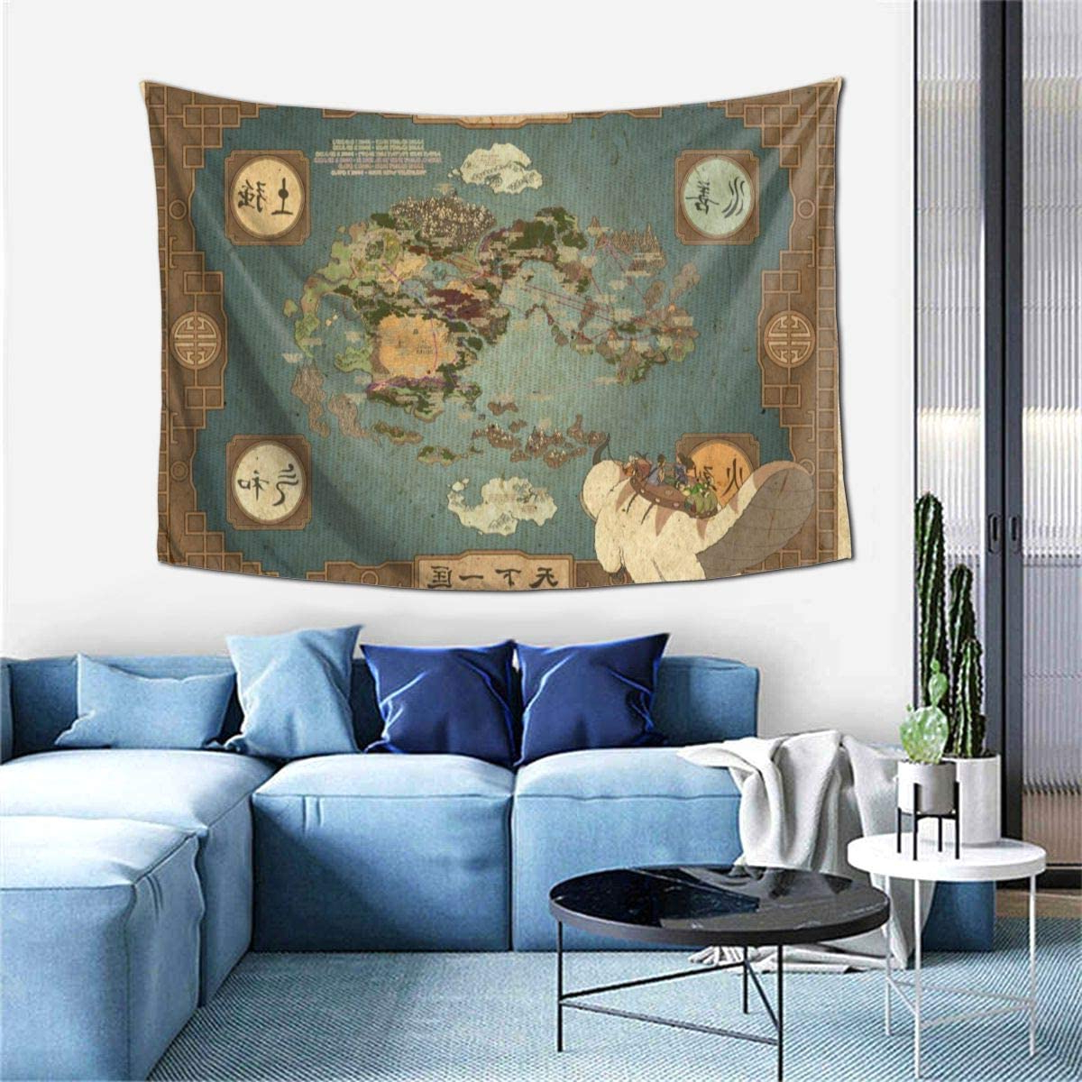 Blended Fabric Living Life Tapestries Within Famous Avatar The Last Airbender Map Tapestry Wall Tapestry Hanging Fabric Backdrop Blanket Home Decor For Living Room Bedroom College Dorm 60x40 Inches (View 11 of 20)