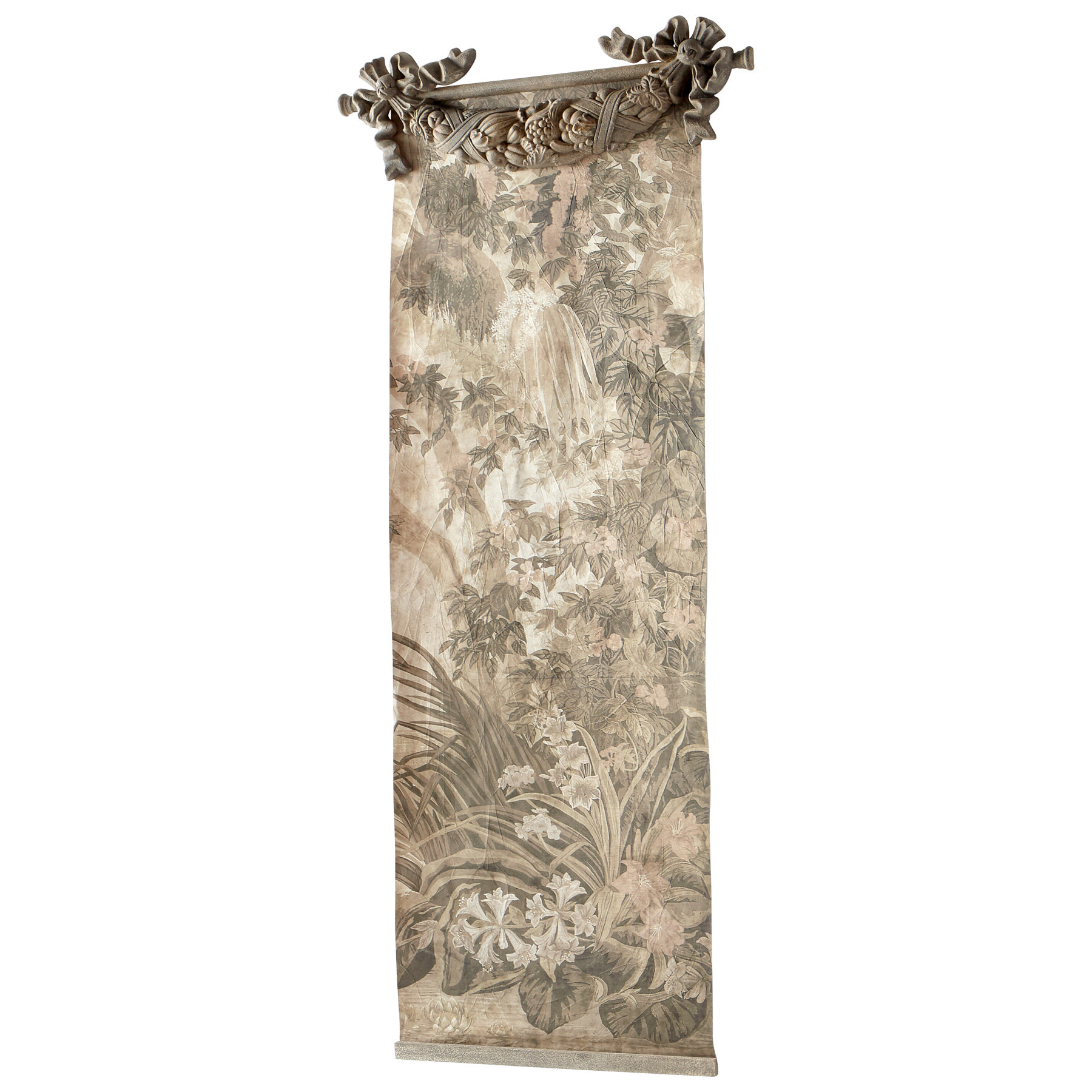Blended Fabric Mucha Spring European Wall Hangings For Well Known Blended Fabric Havenwood Chinoiserie Tapestry Rod Included (View 14 of 20)