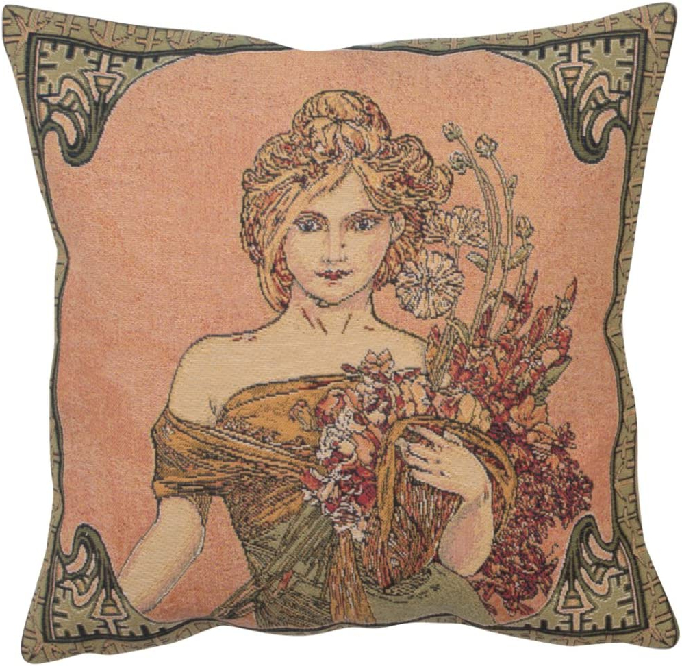 Blended Fabric Mucha Spring European Wall Hangings Intended For Trendy Amazon: Charlotte Home Furnishing Inc (View 5 of 20)