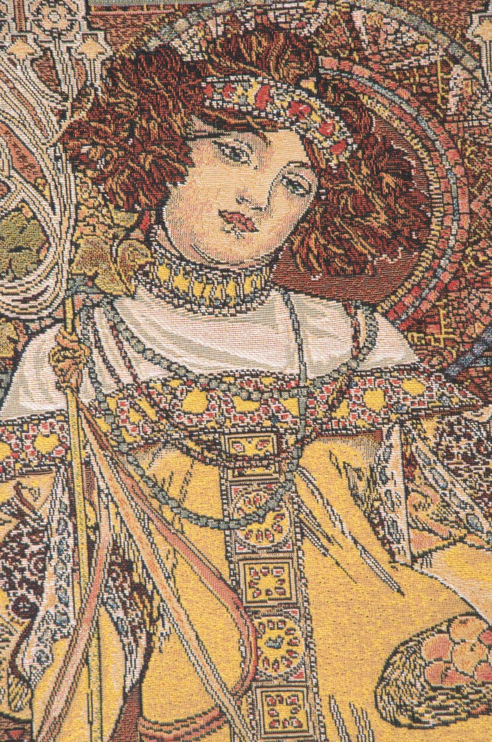 Blended Fabric Mucha Spring European Wall Hangings Regarding Most Recently Released Amazon: Charlotte Home Furnishings Inc (View 8 of 20)