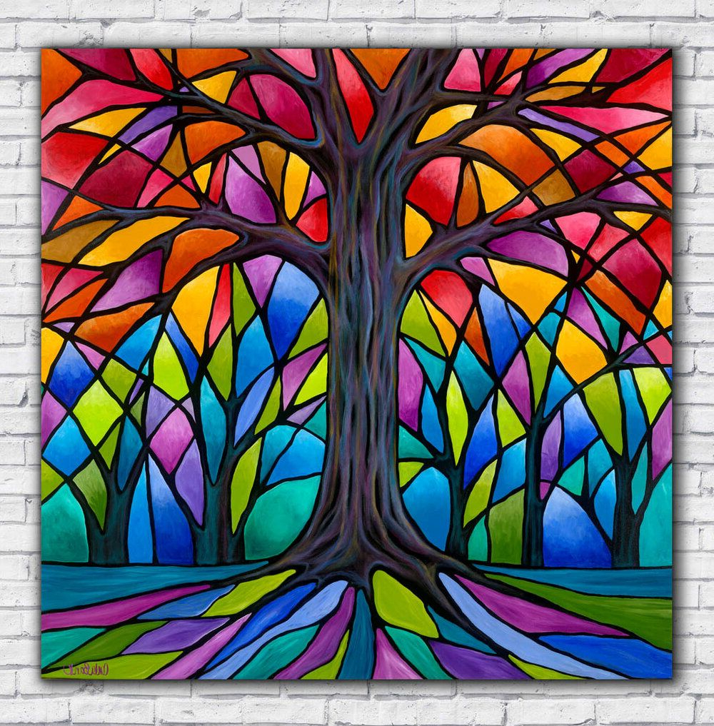Blended Fabric Pastel Tree Of Life Wall Hangings With Regard To Newest Tree Of Life Artwork On Paper, Canvas Or Metal — Carla Bank (View 8 of 20)