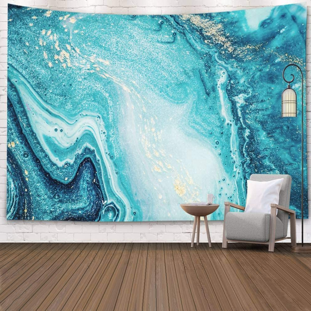 Blended Fabric Pastel Tree Of Life Wall Hangings Within Most Current Pamime Abstract Tapestry,home Décor Abstract Ocean Art Natural Luxury Style The Swirls Marble Ripples Very Beautiful Blue Wall Hanging Tapestries (View 20 of 20)