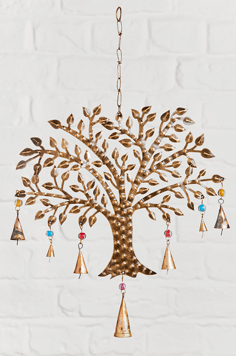 Blended Fabric Pastel Tree Of Life Wall Hangings Within Most Recent Tree Of Life Windchime With Coloured Beads (View 6 of 20)