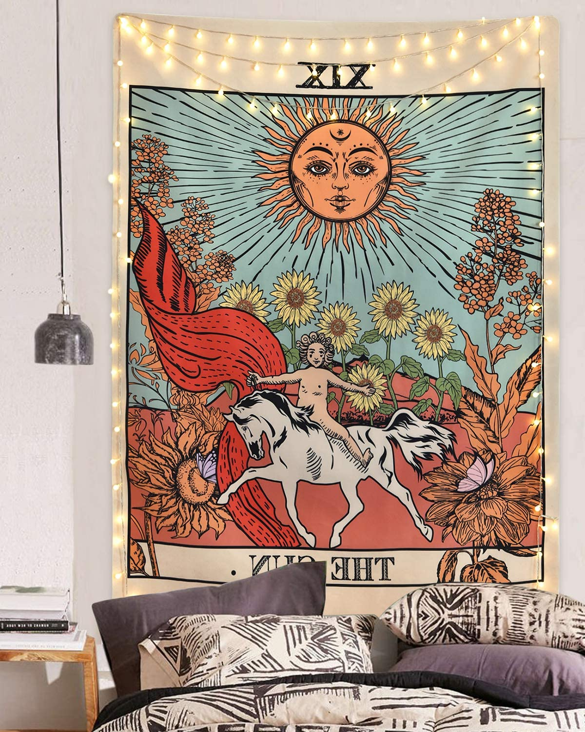 Blended Fabric Peacock European Tapestries Inside Widely Used Sevenstars Tarot Tapestry Sun Tapestry Wall Hanging Mysterious Medieval Europe Divination Tapestries For Room (70.9 X (View 18 of 20)