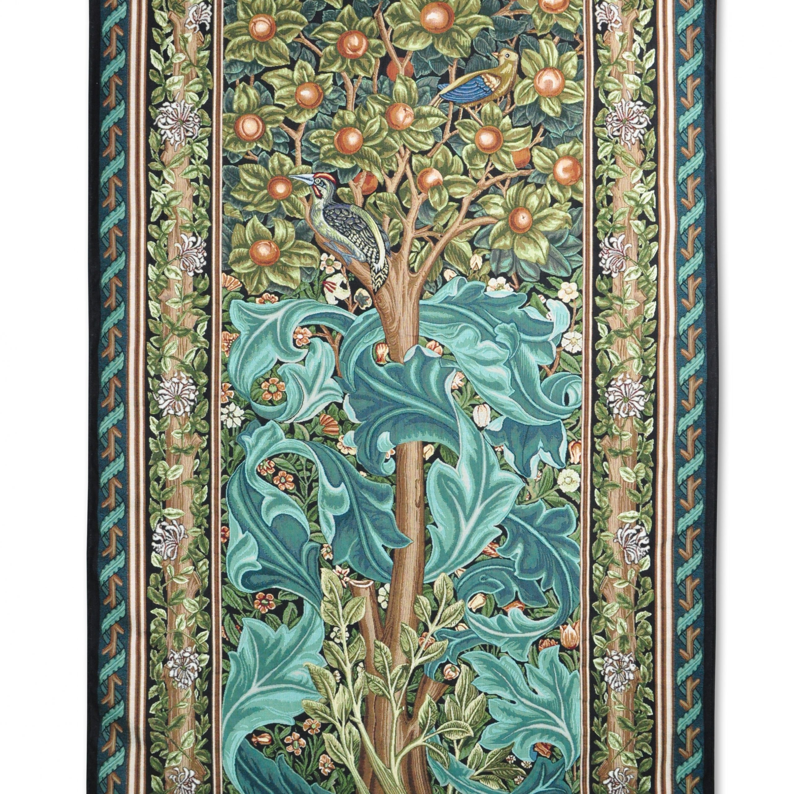 Blended Fabric Peacock European Tapestries Pertaining To Latest Woodpecker Iiwilliam Morris Tapestry (View 10 of 20)