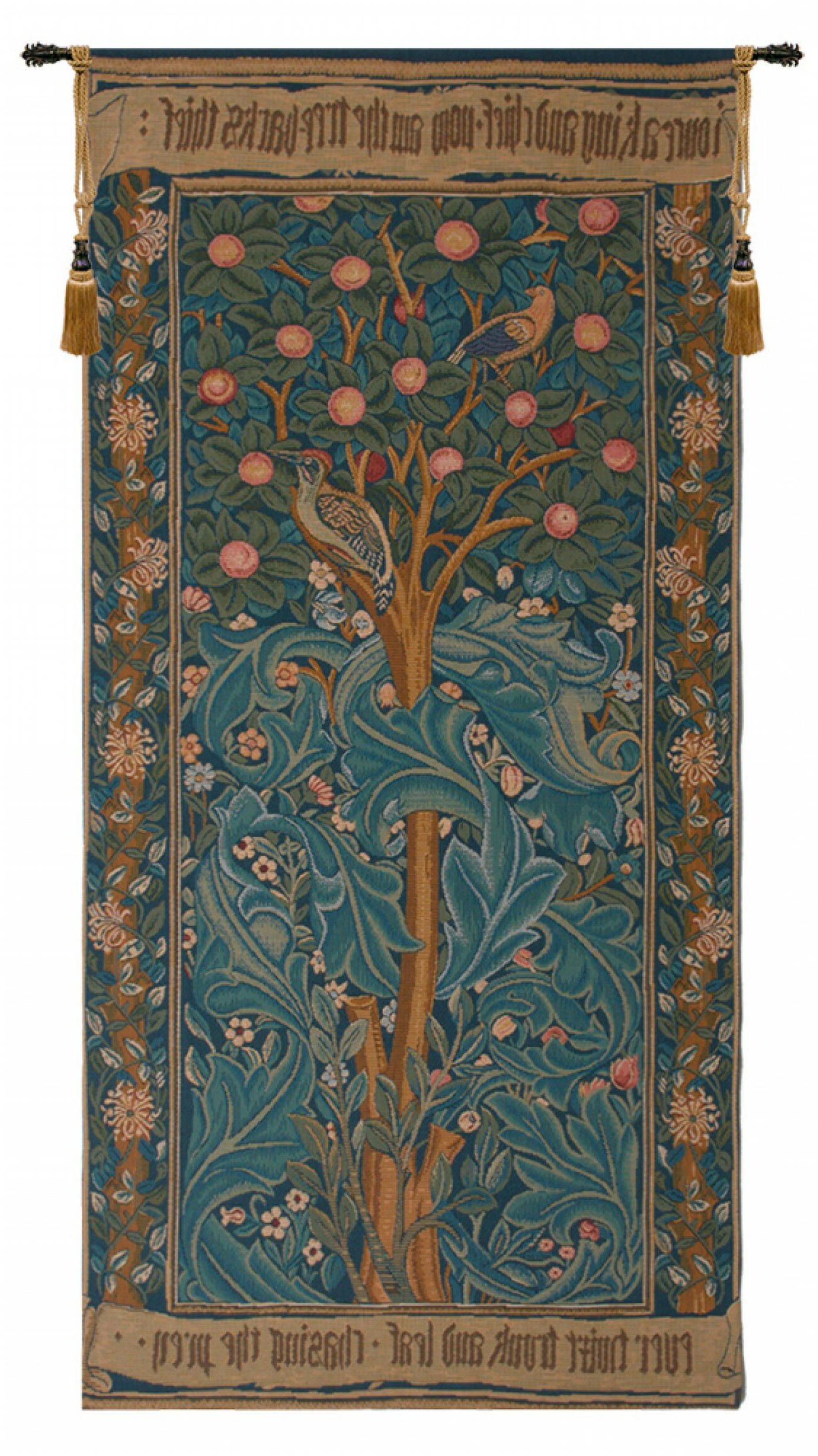 Blended Fabric Peacock European Tapestries Pertaining To Widely Used Woodpecker European Tapestry (View 3 of 20)
