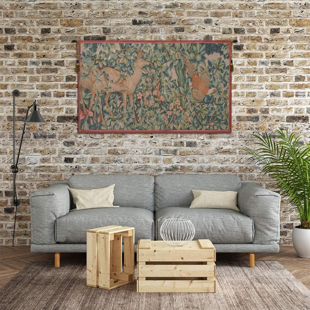 Blended Fabric Pheasant And Doe European Tapestries Wall Hangings In Preferred Amazon: Charlotte Home Furnishings Inc (View 18 of 20)