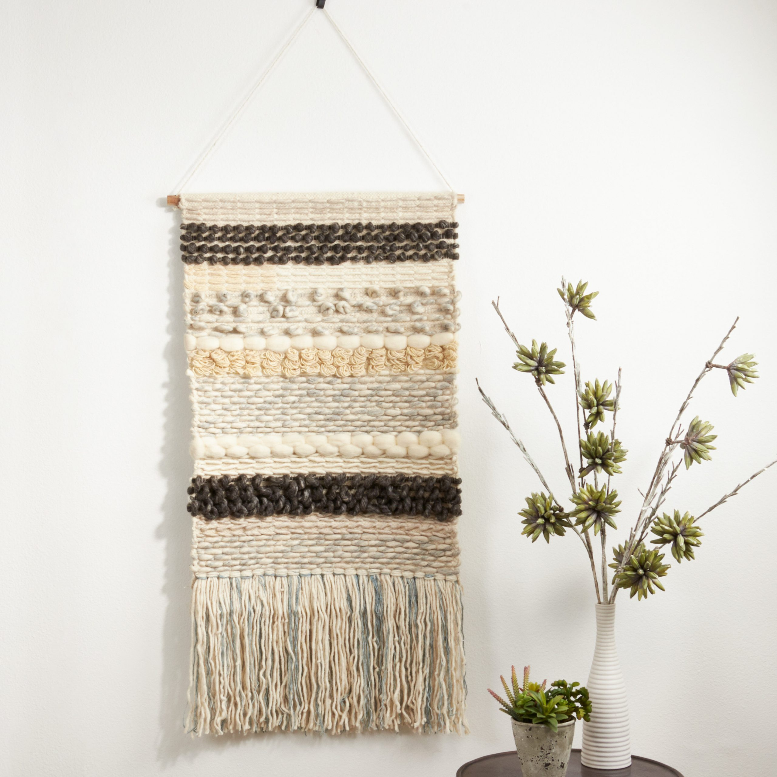 Blended Fabric Ranier Wall Hangings With Hanging Accessories Included For Most Popular Blended Fabric Woven With Rod Included (View 10 of 20)