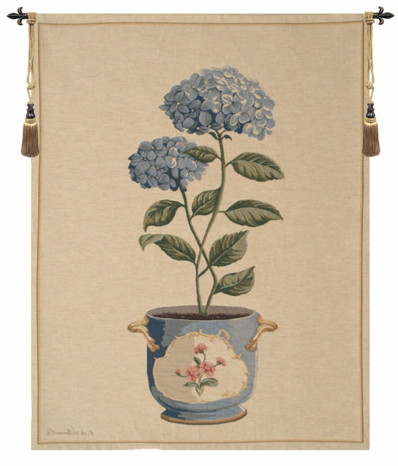 Blended Fabric Ranier Wall Hangings With Hanging Accessories Included Inside 2019 Blended Fabric Hydrangea European Wall Hanging (View 7 of 20)