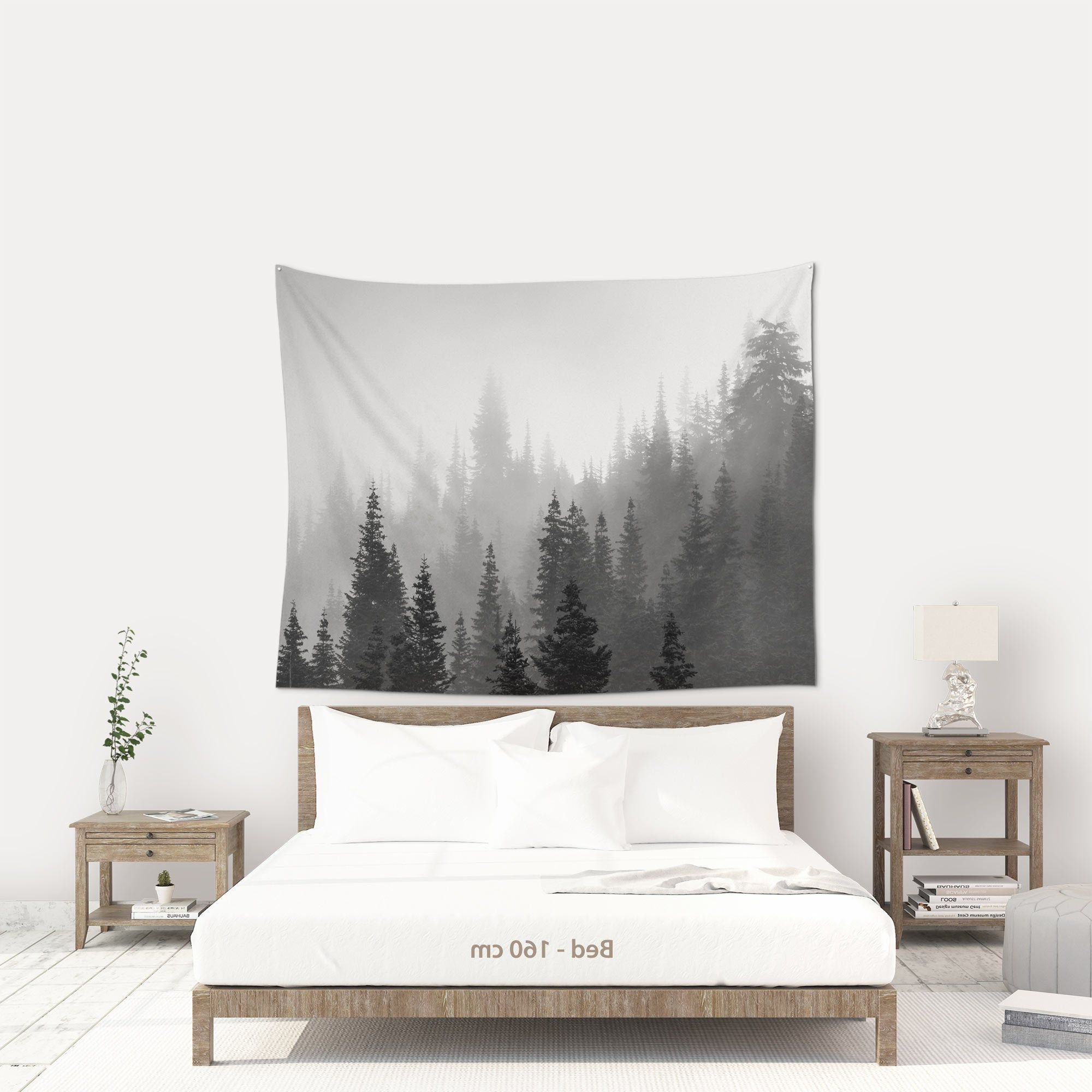 Blended Fabric Ranier Wall Hangings With Hanging Accessories Included Pertaining To Current Tree Tapestry Wall Hanging, Zoom Background, Nature (View 16 of 20)