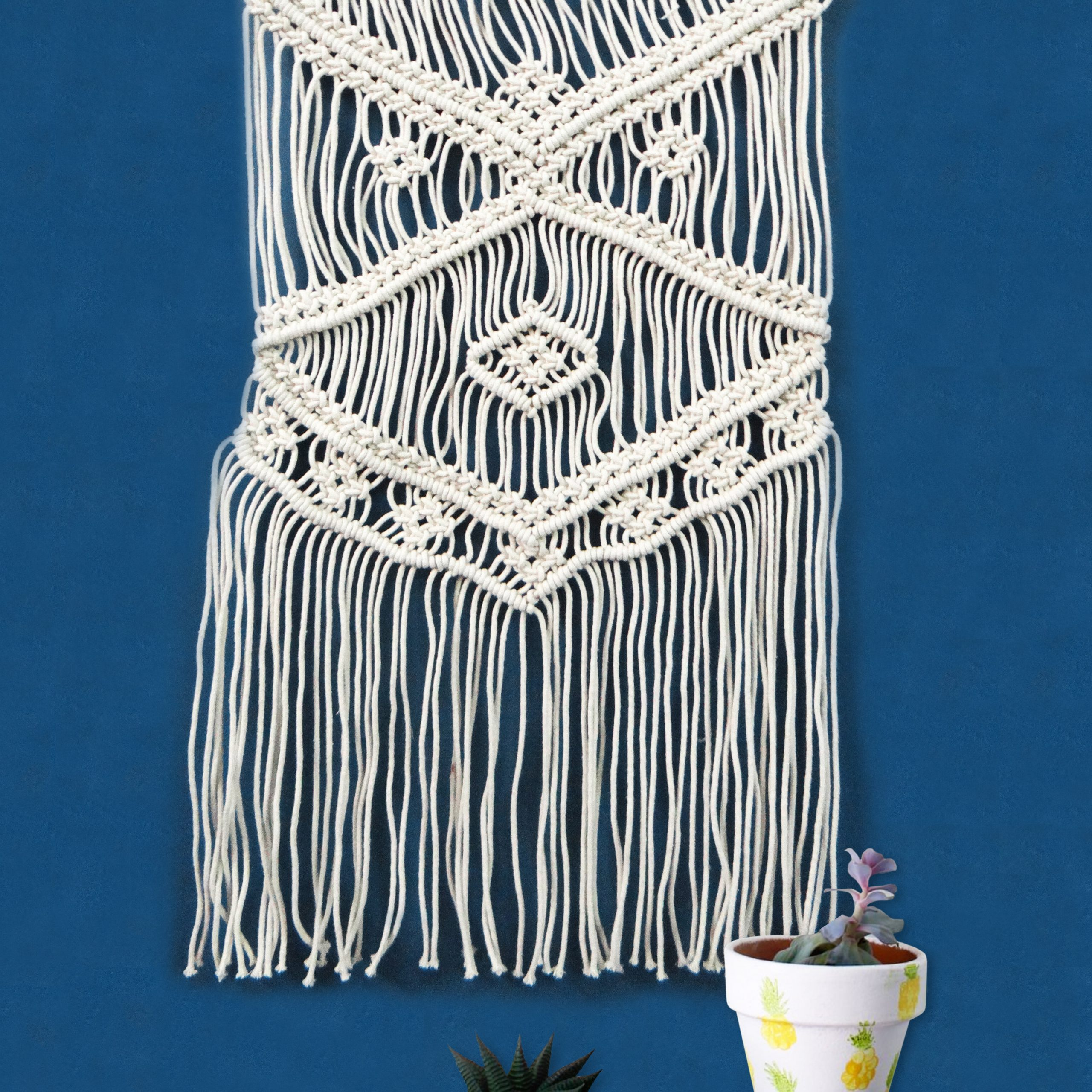 Blended Fabric Ranier Wall Hangings With Hanging Accessories Included Regarding Newest Cotton Wall Hanging Rod Included (View 15 of 20)