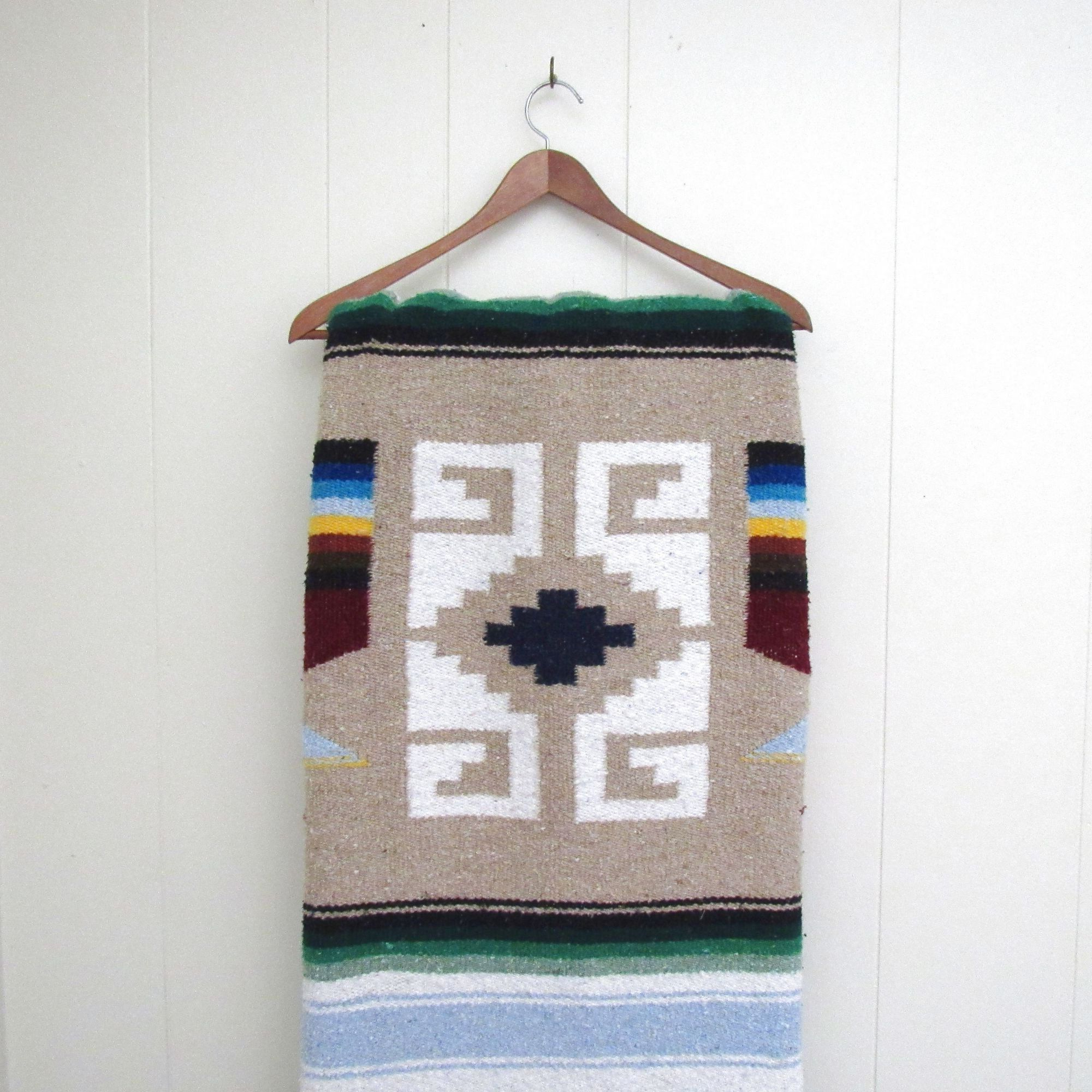 Blended Fabric Southwestern Bohemian Wall Hangings Inside Famous Vintage Mexican Blanket – 90s Woven Cotton Blend Southwest (View 16 of 20)