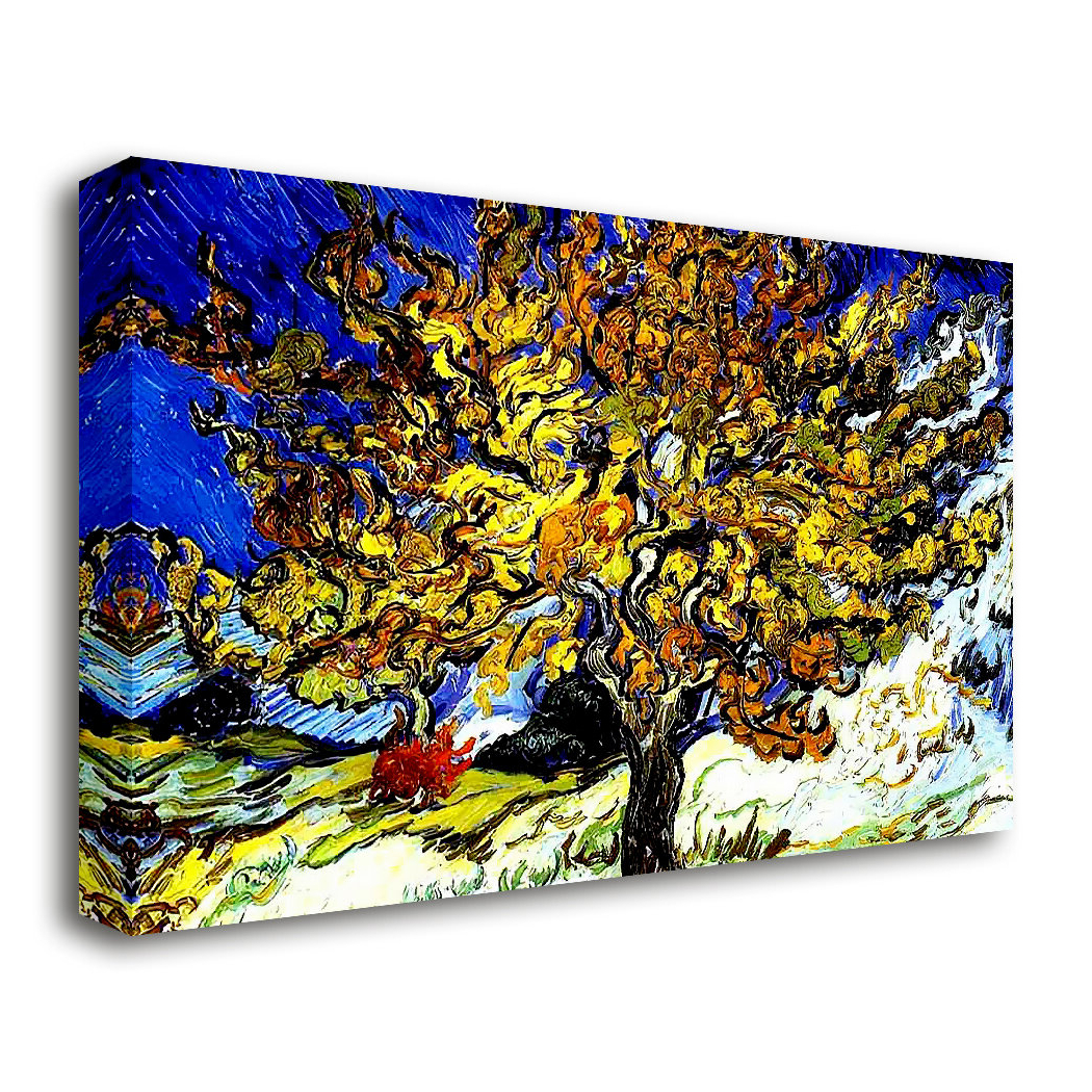 Blended Fabric The Mulberry Tree – Van Gogh Wall Hangings Pertaining To Popular 'the Mulberry Tree'vincent Van Gogh Oil Painting Print On Wrapped Canvas (View 6 of 20)